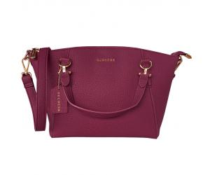 DEON DUMPLING BAG - WINE RED (BACK ORDER)